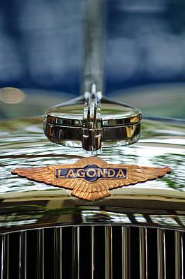 1938 Lagonda Lg6 Rapide Drophead Coupe Hood Emblem 2 Print by Jill Reger