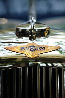 1938 Lagonda Lg6 Rapide Drophead Coupe Hood Emblem Print by Jill Reger