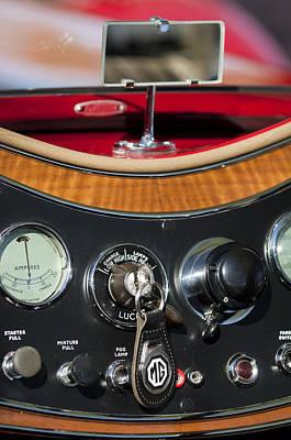 Photograph - 1938 Mg Ta Dashboard by Jill Reger