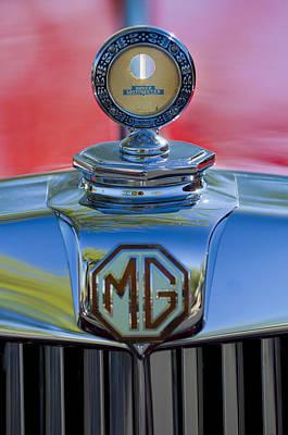 Photograph - 1938 Mg Ta Hood Ornament 2 by Jill Reger
