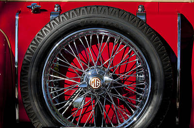 Photograph - 1938 Mg Ta Spare Tire by Jill Reger