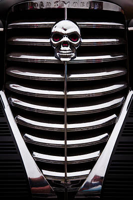 Chrome Skull Photograph - 1938 Oldsmobile Business Coupe by David Patterson