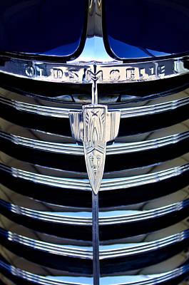 Photograph - 1938 Oldsmobile Rj8 Club Coupe Grille Emblem by Jill Reger