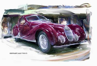 Digital Art - 1938 Talbot Lago T 150 Cs  by RG McMahon
