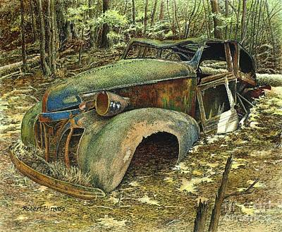 Painting - 1939 Pontiac by Robert Hinves