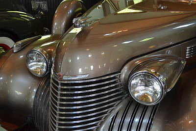 Graphic Photograph - 1940 Cadillac - Model 62 4-door Sedan by Michelle Calkins