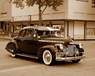 1940s Storefront Photograph - 1940 Chevrolet Special Deluxe - Sepia by Randall Thomas Stone