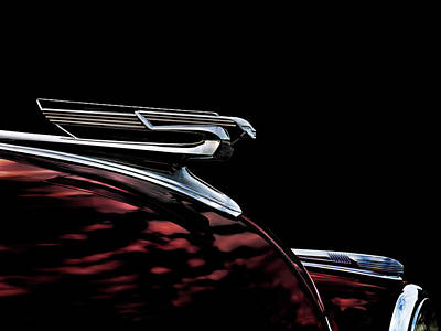 1940 Chevy Hood Ornament Take 2 Art Print by Douglas Pittman
