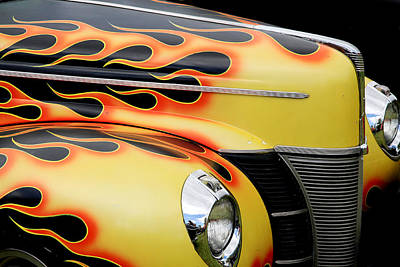 39 Ford Photograph - 1940 Flames by Steve McKinzie