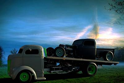 Photograph - 1940 Ford Coe Roll Back Truck by Tim McCullough