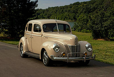 Photograph - 1940 Ford Deluxe Sedan Hot Rod by Tim McCullough