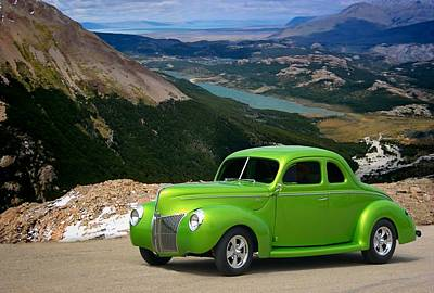 Photograph - 1939 Ford Lime Green Coupe by Tim McCullough