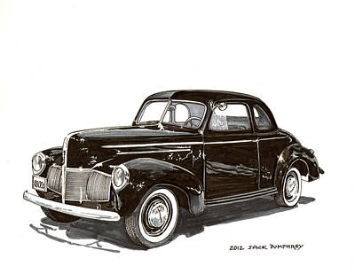 1940 Studebaker Business Coupe Art Print by Jack Pumphrey