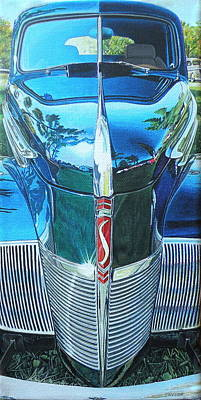 Custom Studio Painting - 1940 Studebaker Coupe by Jeff Taylor
