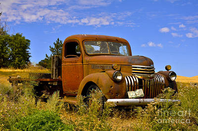 1940's Chevy Truck 2 Art Print by Camille Lyver