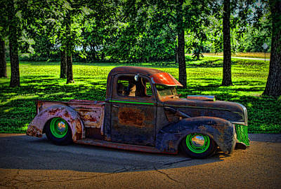 Photograph - 1941 Ford Pickup Truck Rat Rod by Tim McCullough
