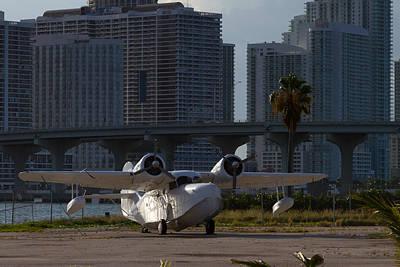 Outdoor Graphic Tees - 1941 Grumman Goose at Miami by Ed Gleichman