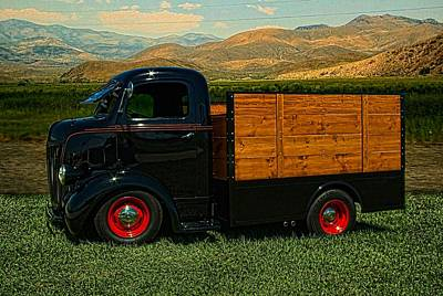 Photograph - 1942 Ford Coe Grain Truck by Tim McCullough