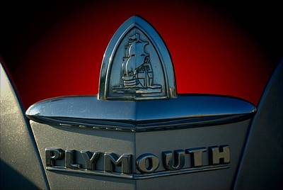 Photograph - 1946 Plymouth Hood Ornament by Tim McCullough
