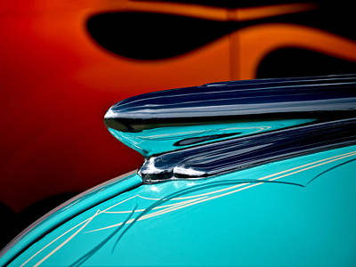Flaming Digital Art - 1948 Chevy Hood Ornament by Douglas Pittman