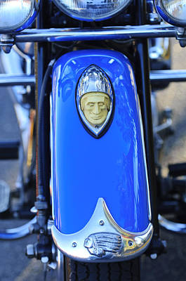 Photograph - 1948 Indian Chief Motorcycle Fender by Jill Reger