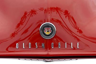 Photograph - 1948 Oldsmobile Hood Emblem by Jill Reger