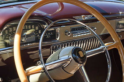 Photograph - 1949 Cadillac Sedanette Steering Wheel by Jill Reger
