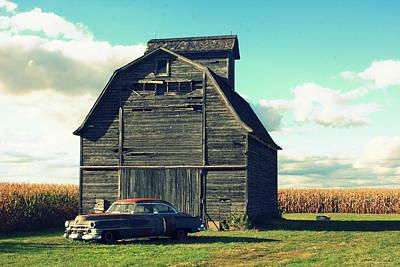 Cornfield Photograph - 1950 Cadillac Barn Cornfield by Lyle Hatch