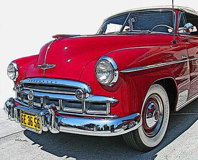 1950 Chevrolet Fleetline Deluxe Convertible Art Print by Samuel Sheats
