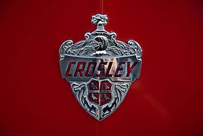Photograph - 1950 Crosley Hood Emblem by  Onyonet  Photo Studios