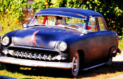 Photograph - 1950 Ford  Vintage by Peggy Franz