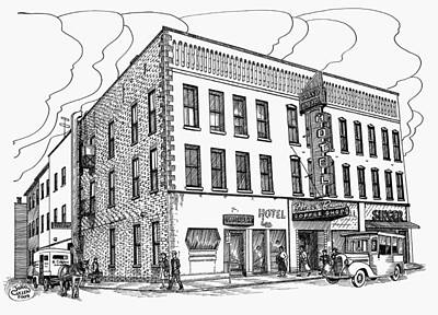 1950 Grand Central Hotel Brockville Print by John Cullen