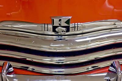 Photograph - 1950 Kaiser Deluxe Hood Emblem by Jill Reger