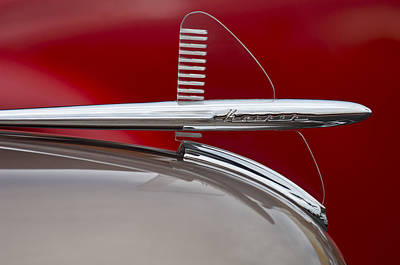 Photograph - 1950 Kaiser Hood Ornament by Jill Reger