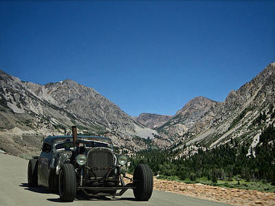 Photograph - 1950s Diesel Rat Rod Pickup by Tim McCullough