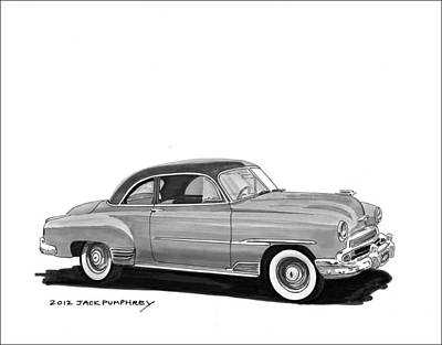 1951 Chevrolet Coupe Art Print by Jack Pumphrey