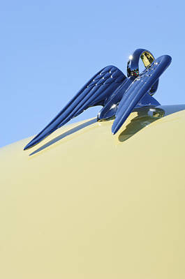 Photograph - 1951 Chrysler New Yorker Convertible Hood Ornament by Jill Reger
