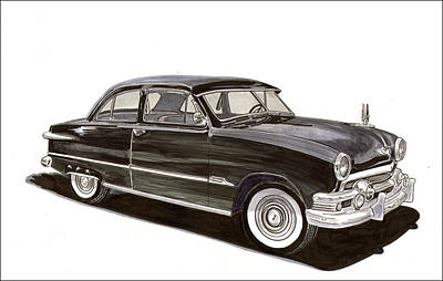 1951 Ford 2 Dr Sedan Art Print by Jack Pumphrey