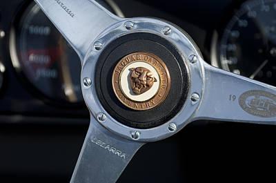 Photograph - 1951 Jaguar Steering Wheel Emblem by Jill Reger