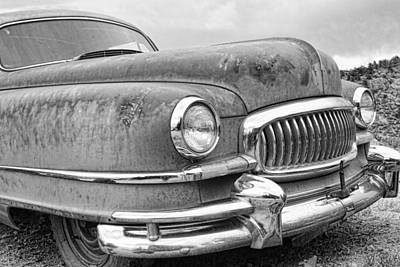 Photograph - 1951 Nash Ambassador Front End Bw by James BO Insogna