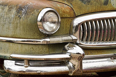 1951 Nash Ambassador Front End Closeup Art Print
