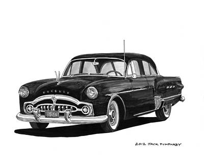 1951 Packard Patrician 400 Art Print by Jack Pumphrey