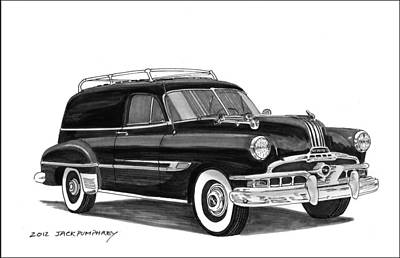 1951 Pontiac Panel Delivery Art Print by Jack Pumphrey