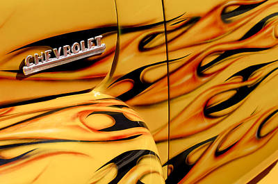 Chevrolet Pickup Photograph - 1952 Chevrolet Pickup Truck Emblem by Jill Reger