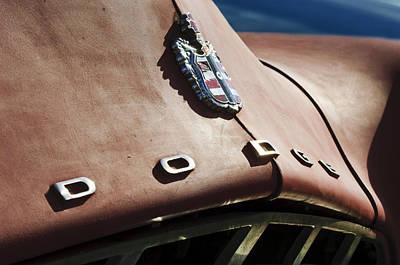 Photograph - 1952 Dodge Hood Emblem by Jill Reger