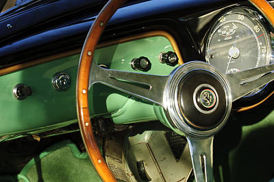 Photograph - 1952 Ferrari 342 America Coupe Speciale Steering Wheel by Jill Reger