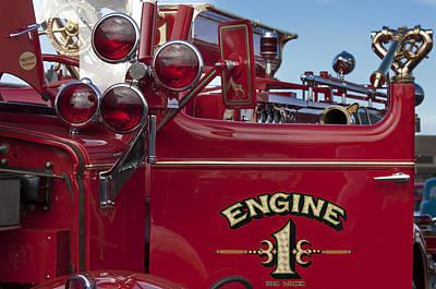 Photograph - 1952 L Model Mack Pumper Fire Truck 2 by Jill Reger