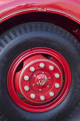 Photograph - 1952 L Model Mack Pumper Fire Truck Wheel 2 by Jill Reger