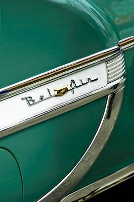 Photograph - 1953 Chevrolet Belair Side Emblem by Jill Reger