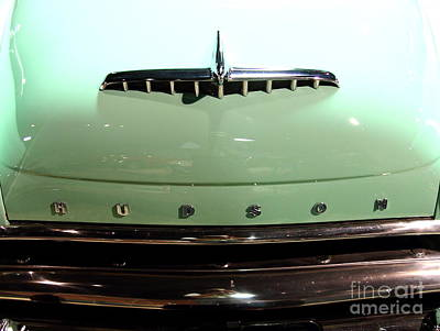 Domestic Car Photograph - 1953 Hudson Super Jet . Grille And Hood Ornament by Wingsdomain Art and Photography